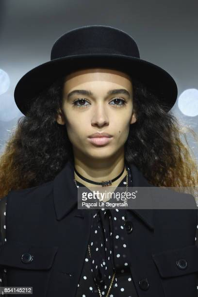 A model walks the runway during the Christian Dior show as part of the Paris Fashion Week Womenswear Spring/Summer 2018 on September 26 2017 in Paris...