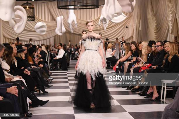 A model walks the runway during the Christian Dior Spring Summer 2018 show  as part of 911eeb4cdd9a