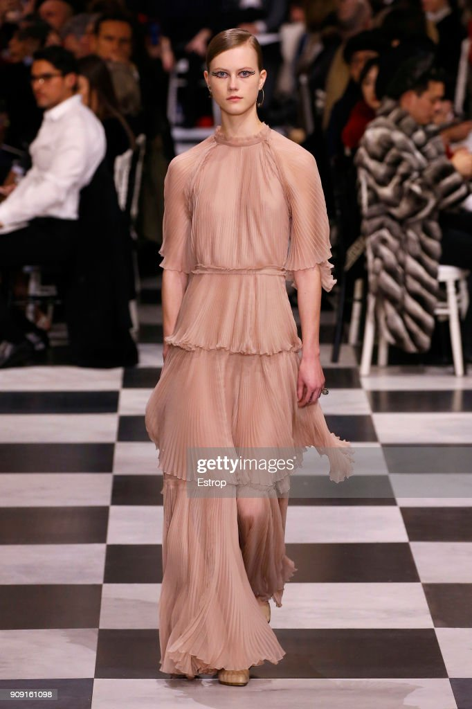 A model walks the runway during the Christian Dior Spring Summer 2018 show as part of Paris Fashion Week on January 22, 2018 in Paris, France.