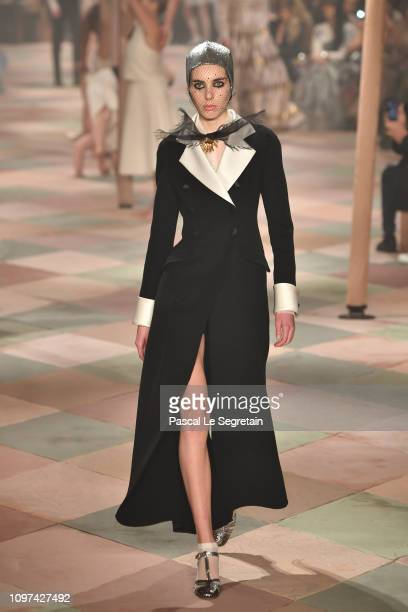 A model walks the runway during the Christian Dior Spring Summer 2019 show as part of Paris Fashion Week on January 21 2019 in Paris France