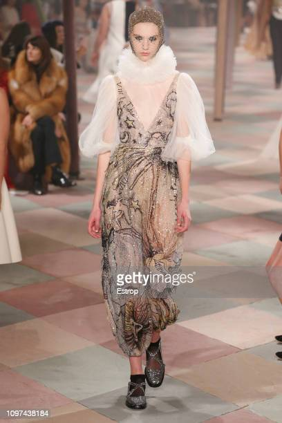 A model walks the runway during the Christian Dior Spring Summer 2019 show as part of Paris Fashion Week on January 22 2019 in Paris France