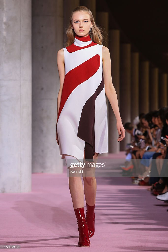 A model walks the runway during the Christian Dior TOKYO Autumn/Winter 2015-16 Ready-To-Wear Show on June 16, 2015 in Tokyo, Japan.