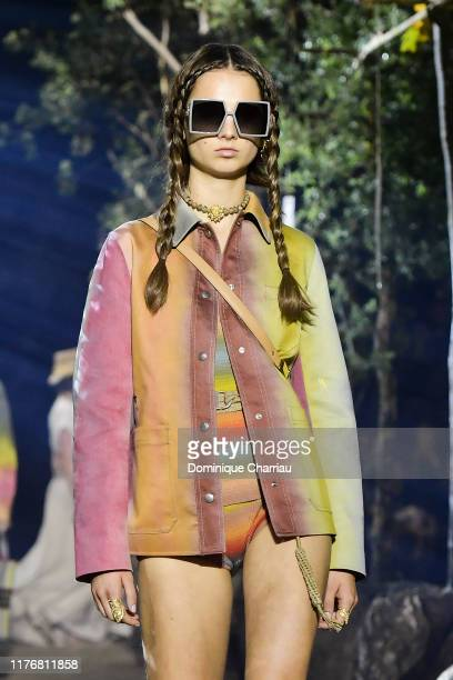 A model walks the runway during the Christian Dior Womenswear Spring/Summer 2020 show as part of Paris Fashion Week on September 24 2019 in Paris...