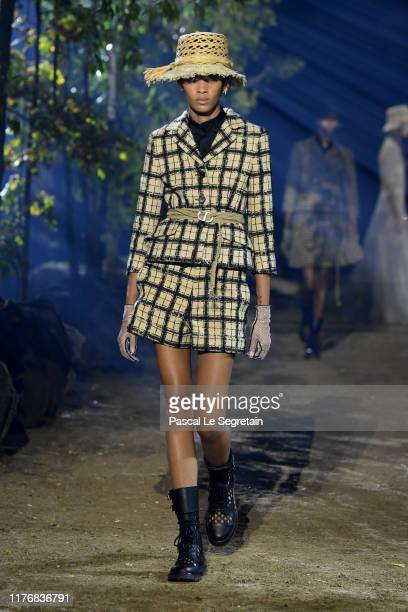 Model walks the runway during the Christian Dior Womenswear Spring/Summer 2020 show as part of Paris Fashion Week on September 24, 2019 in Paris,...