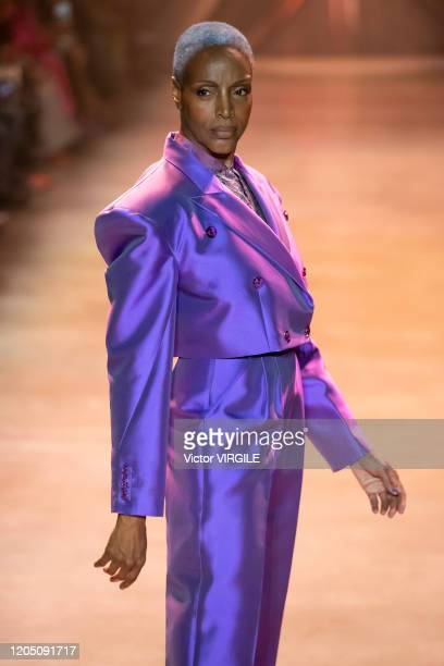 A model walks the runway during the Christopher John Rogers Ready to Wear Fall/Winter 20202021 fashion show on February 08 2020 in New York City