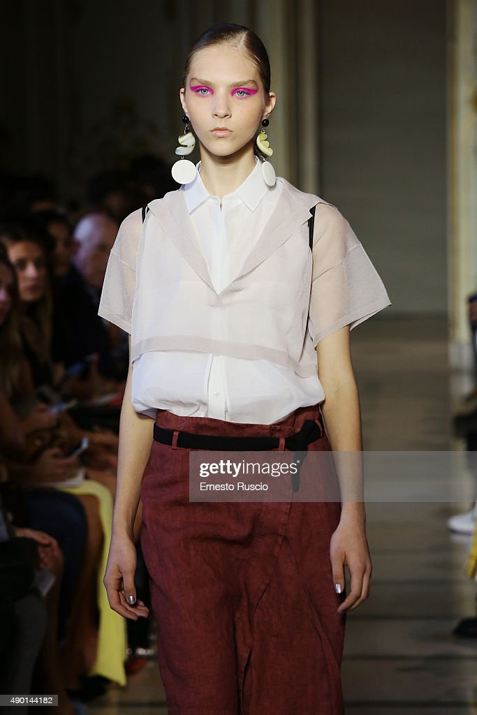 info for bfe2f 36dc6 A model walks the runway during the Cividini fashion show as ...