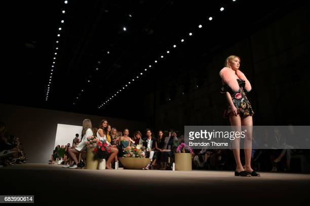 A model walks the runway during the C/meo Collective show at MercedesBenz Fashion Week Resort 18 Collections at Carriageworks on May 17 2017 in...