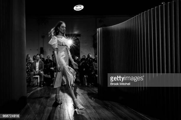 A model walks the runway during the C/Meo Collective show at MercedesBenz Fashion Week Resort 19 Collections at Carriageworks on May 15 2018 in...