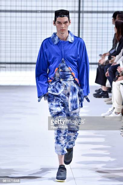 Model walks the runway during the Comme des Garcons Menswear Spring/Summer 2019 show as part of Paris Fashion Week on June 22, 2018 in Paris, France.