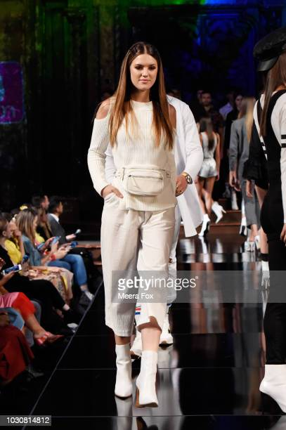 A model walks the runway during the COTTON INC show at New York Fashion Week Powered By Art Hearts Fashion at The Angel Orensanz Foundation on...