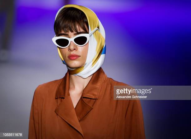 A model walks the runway during the Cotton Project fashion show during Sao Paulo Fashion Week N46 Winter 2019 at Arca on October 25 2018 in Sao Paulo...