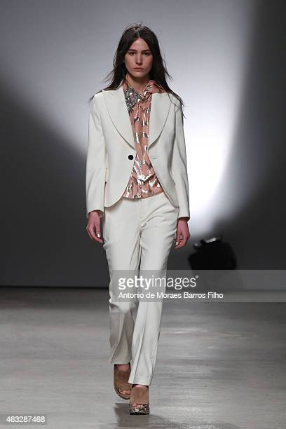 A model walks the runway during the Creatures Of The Wind fall 2015 fashion show on February 12 2015 in New York City