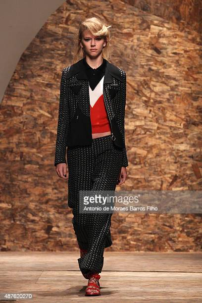 A model walks the runway during the Creatures Of The Wind show as a part of Spring 2016 New York Fashion Week at Pace Gallery on September 10 2015 in...