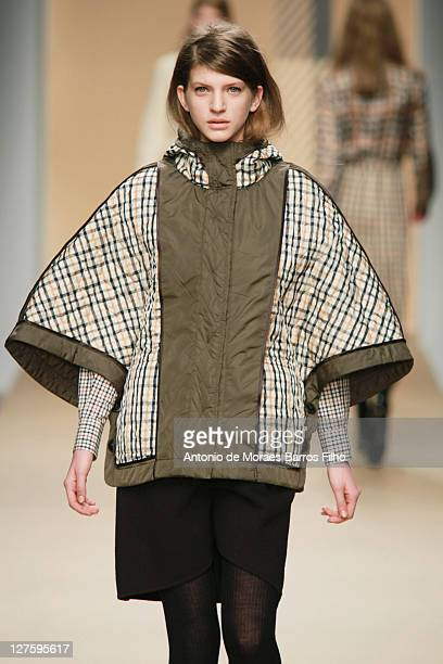 A model walks the runway during the DAKS show at London Fashion Week Autumn/Winter 2011 on February 19 2011 in London England