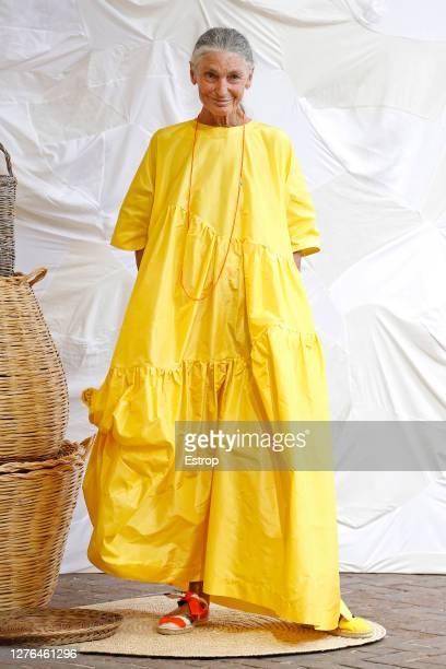 A model walks the runway during the Daniela Gregis fashion show during Milan Women's Fashion Week Spring/Summer 2021 on September 24 2020 in Milano...