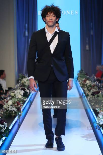 A model walks the runway during the David Jones Spring Summer 2017 Collections Launch at David Jones Elizabeth Street Store on August 9 2017 in...