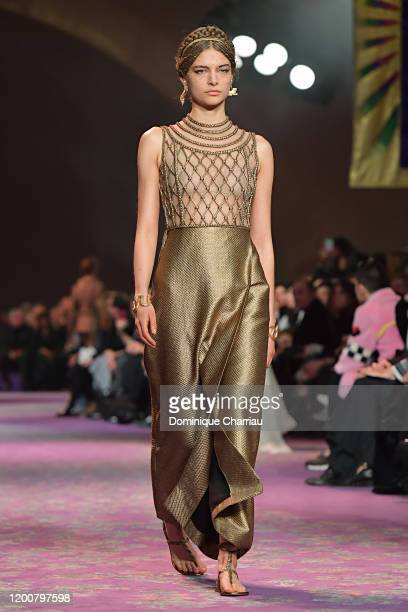 A model walks the runway during the Dior Haute Couture Spring/Summer 2020 show as part of Paris Fashion Week on January 20 2020 in Paris France