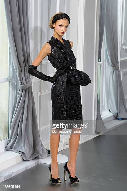Model walks the runway during the Dior Haute-Couture 2012 show as part of Paris Fashion Week, at Salons Christian Dior on January 23, 2012 in Paris,...
