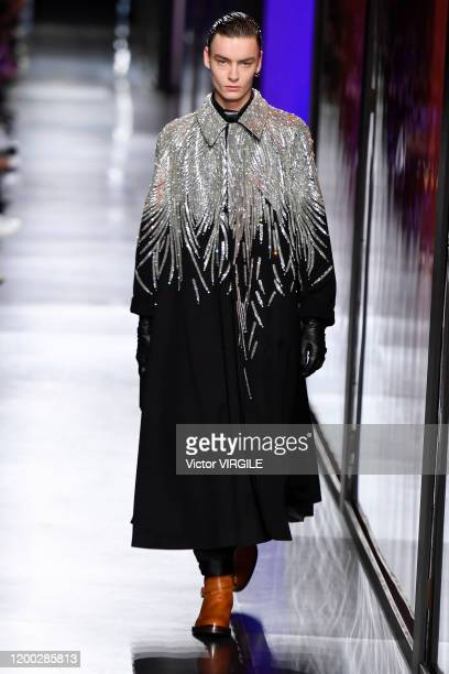 A model walks the runway during the Dior Homme Menswear Fall/Winter 20202021 show as part of Paris Fashion Week on January 17 2020 in Paris France