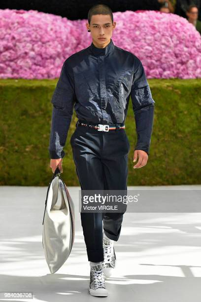 A model walks the runway during the Dior Homme Menswear Spring/Summer 2019 fashion show as part of Paris Fashion Week on June 23 2018 in Paris France