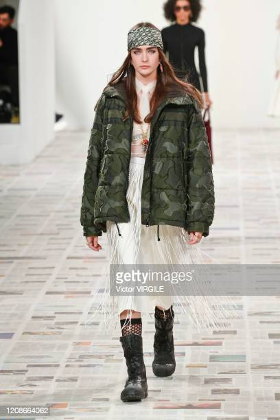 A model walks the runway during the Dior Ready to Wear fashion show as part of the Paris Fashion Week Womenswear Fall/Winter 2020/2021 on February 25...