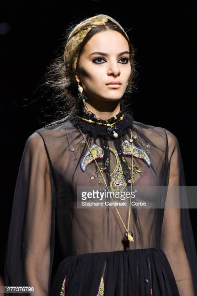 Model walks the runway during the Dior Womenswear Spring/Summer 2021 show as part of Paris Fashion Week on September 29, 2020 in Paris, France.
