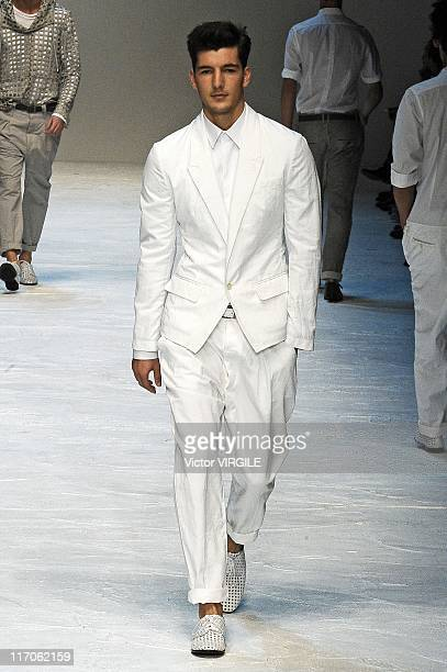 A model walks the runway during the Dolce and Gabbana Ready to Wear Spring/Summer 2012 show as part of the Milan Men Fashion Week on June 18 2011 in...