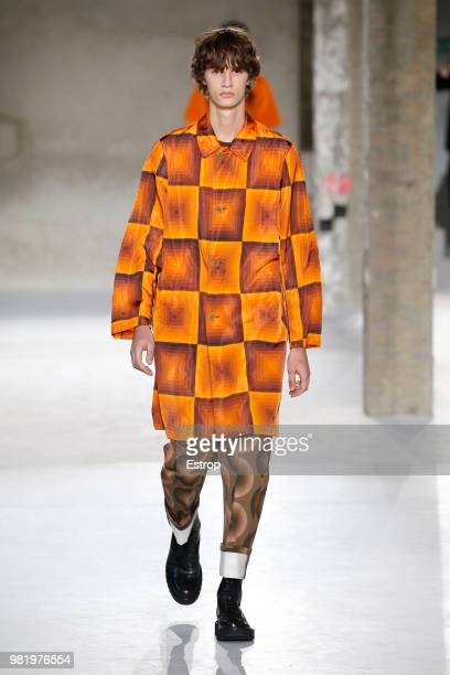 A model walks the runway during the Dries Van Noten Menswear Spring/Summer 2019 show as part of Paris Fashion Week on June 21 2018 in Paris France