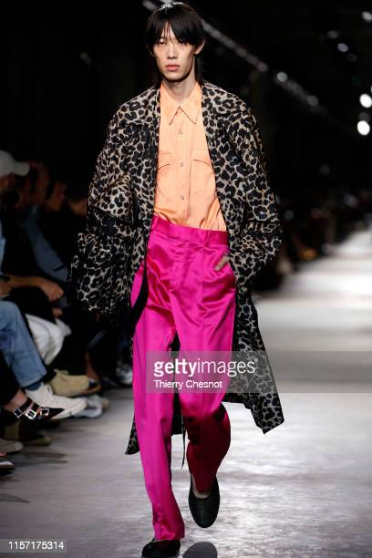 A model walks the runway during the Dries Van Noten Menswear Spring Summer 2020 show as part of Paris Fashion Week on June 20 2019 in Paris France