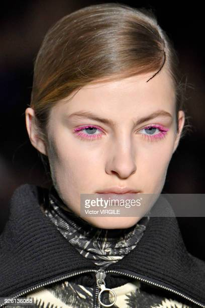 A model walks the runway during the Dries Van Noten Ready to Wear Fall/Winter fashion show as part of the Paris Fashion Week Womenswear Fall/Winter...