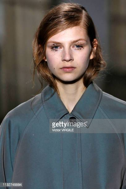 A model walks the runway during the Dries Van Noten Ready to Wear Fall/Winter 20192020 fashion show as part of the Paris Fashion Week Womenswear...