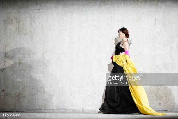 Model walks the runway during the Dries Van Noten Womenswear Spring/Summer 2020 show at Opera Bastille as part of Paris Fashion Week on September 25,...