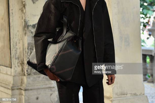 A model walks the runway during the Dunhill London Menswear Spring/Summer 2019 show as part of Paris Fashion Week on June 24 2018 in Paris France