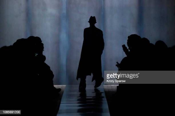 A model walks the runway during the Dunhill London Menswear Fall/Winter 20192020 show as part of Paris Fashion Week on January 20 2019 in Paris France