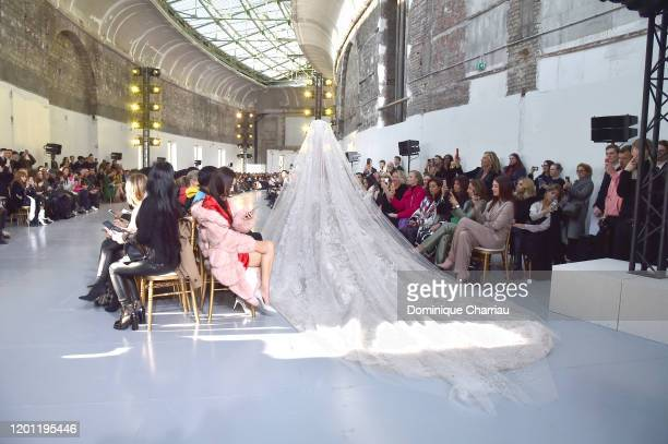 Model walks the runway during the Elie Saab Haute Couture Spring/Summer 2020 show as part of Paris Fashion Week on January 22, 2020 in Paris, France.