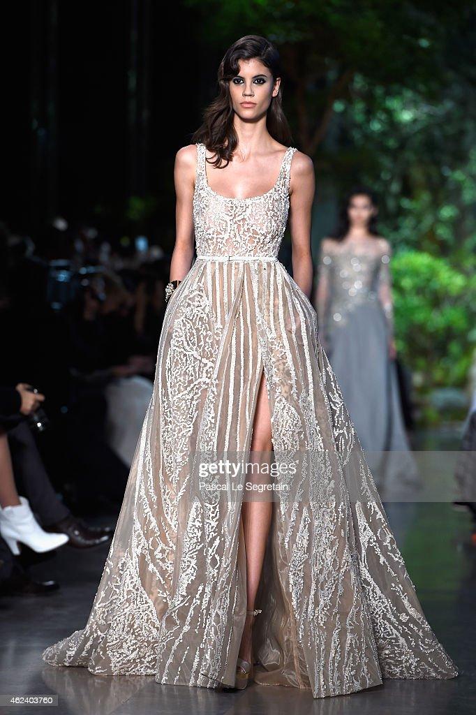 Elie Saab : Runway - Paris Fashion Week - Haute Couture S/S 2015 : News Photo