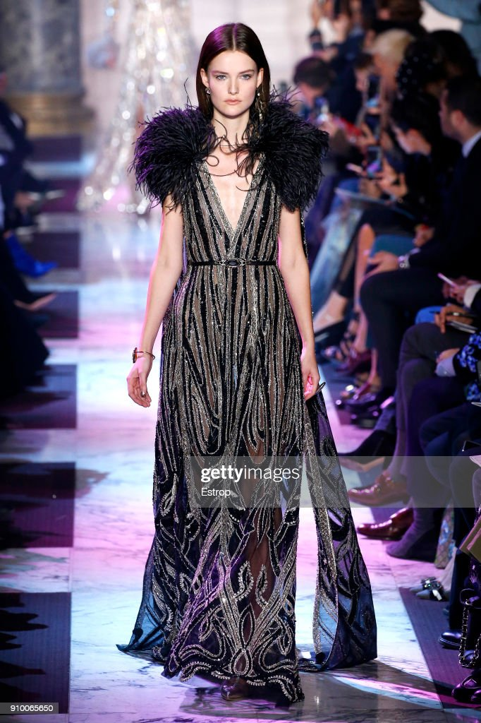 model-walks-the-runway-during-the-elie-saab-spring-summer-2018-show-picture-id910065650