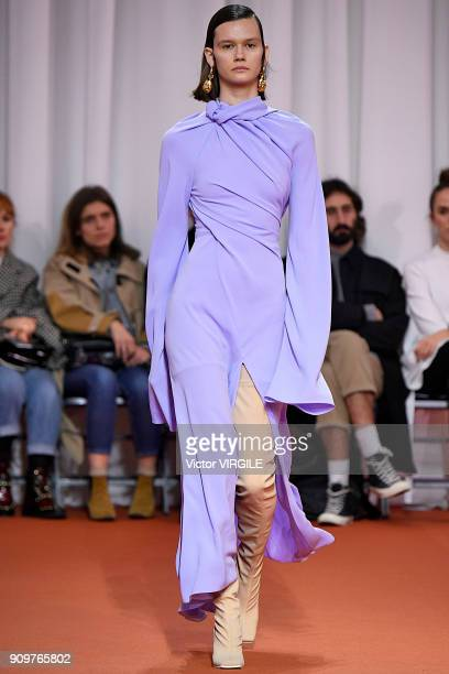 A model walks the runway during the Ellery Haute Couture Spring Summer 2018 show as part of Paris Fashion Week on January 23 2018 in Paris France