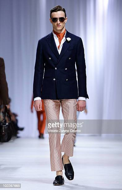 A model walks the runway during the Ermenegildo Zegna Z Zegna Milan Menswear Spring/Summer 2011 show on June 21 2010 in Milan Italy