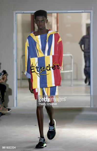 A model walks the runway during the Etudes Menswear Spring/Summer 2019 show as part of Paris Fashion Week on June 23 2018 in Paris France