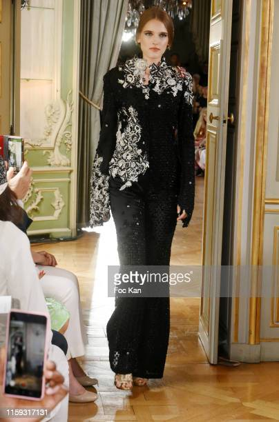 A model walks the runway during the Farhad RE Haute Couture Fall/Winter 2019 2020 show as part of Paris Fashion Week on June 30 2019 in Paris France