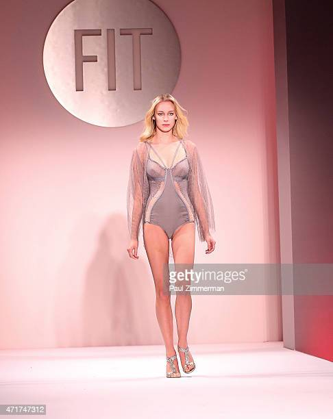 Model walks the runway during The Fashion Institute of Technology's 2015 Future Of Fashion Runway Show on April 30, 2015 in New York City.