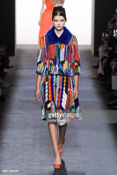 A model walks the runway during the Fendi Couture Haute Couture Fall Winter 2018/2019 show as part of Paris Fashion Week on July 4 2018 in Paris...