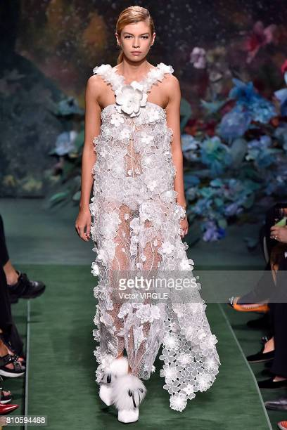 A model walks the runway during the Fendi Haute Couture Fall/Winter 20172018 show as part of Haute Couture Paris Fashion Week on July 5 2017 in Paris...