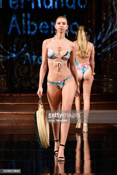 A model walks the runway during the FERNANDO ALBERTO ATELIER show at New York Fashion Week Powered By Art Hearts Fashion at The Angel Orensanz...