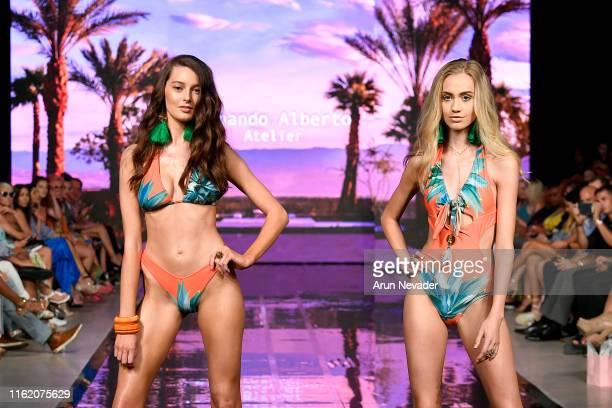 A model walks the runway during the FERNANDO ALBERTO ATELIER Show at Miami Swim Week powered by Art Hearts Fashion Swim/Resort 2019/20 at Faena Forum...