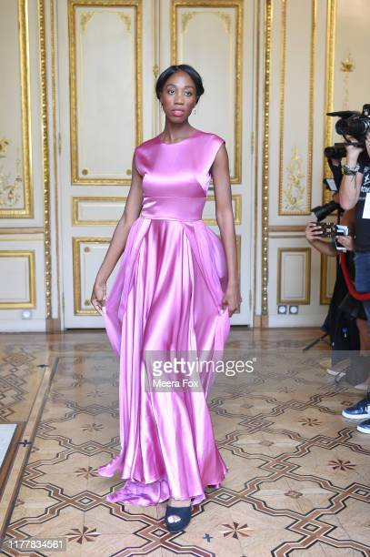 A model walks the runway during the Flying Solo Womenswear Spring/Summer 2020 show as part of Paris Fashion Week on September 28 2019 in Paris France