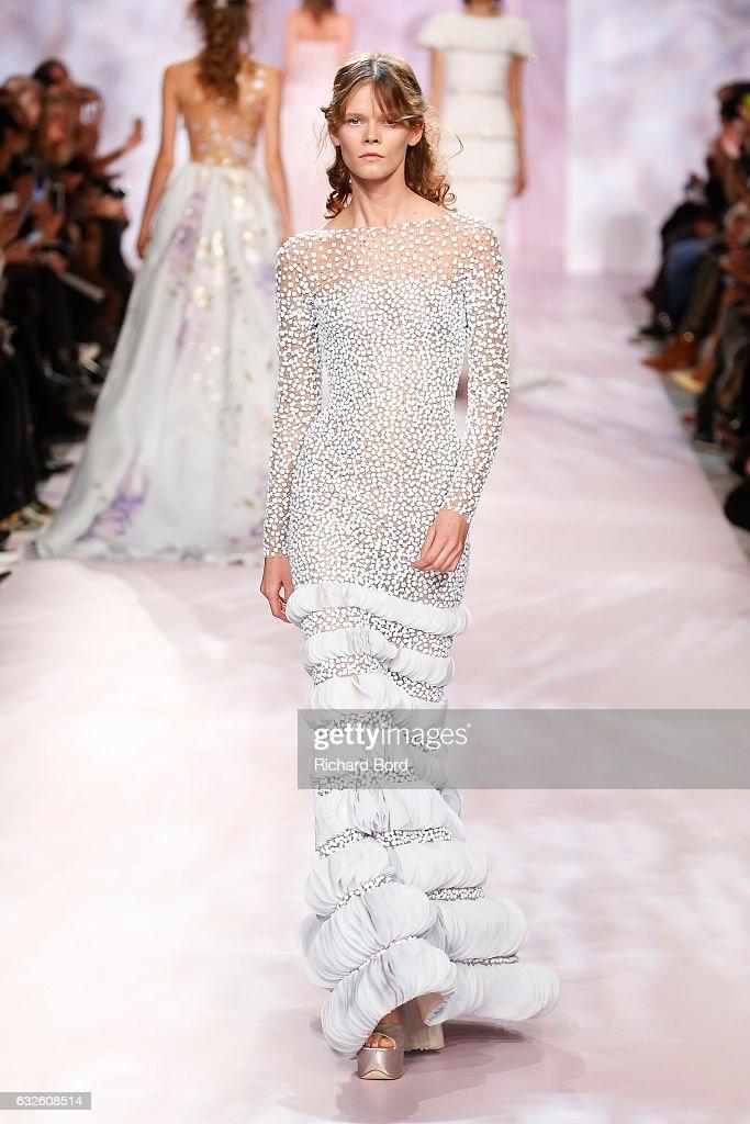 Georges Chakra : Runway - Paris Fashion Week - Haute Couture Spring Summer 2017 : News Photo
