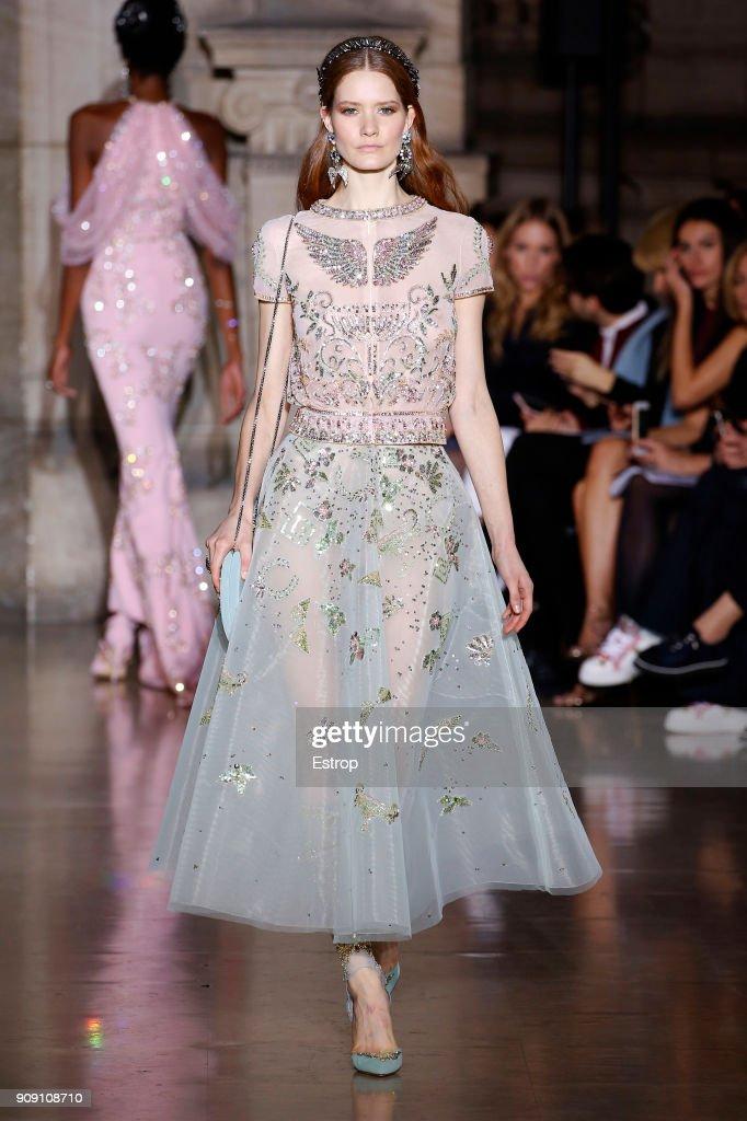Georges Hobeika : Runway - Paris Fashion Week - Haute Couture Spring Summer 2018