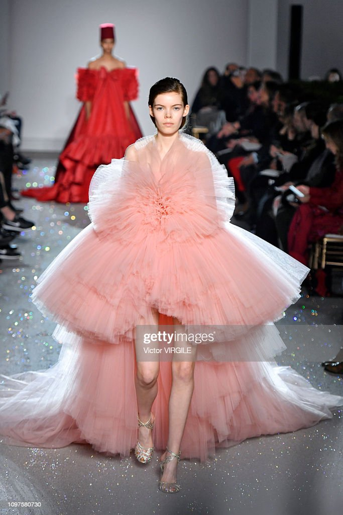 Giambattista Valli : Runway - Paris Fashion Week - Haute Couture Spring Summer 2019 : Photo d'actualité